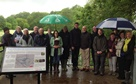 Guests braved the weather to celebrate the achievements at the Source of the River Lea