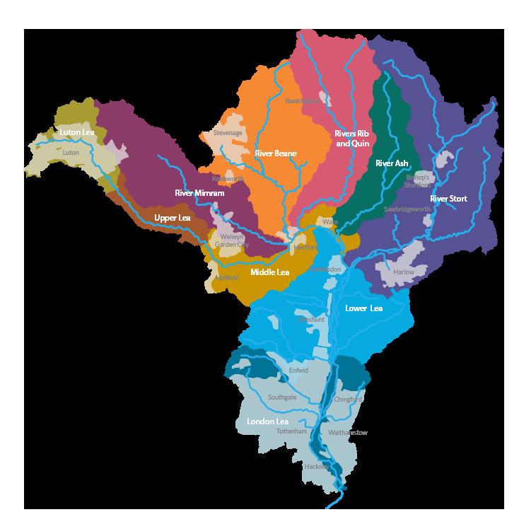 River Lea Map River Lea Catchment Partnership   Home River Lea Map